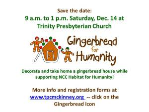 Gingerbread slide-TPC holiday bazaar